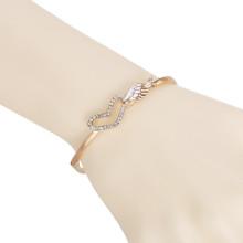 Fille ange aile cristal coeur vogue Bracelet alliage