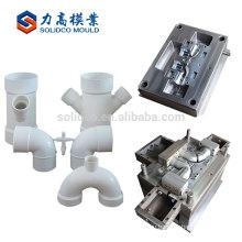 Промышленный Изготовленный На Заказ Пластичная Прессформа Впрыски PVC Двойной Розетки Типа Y Прессформа Штуцера Трубы