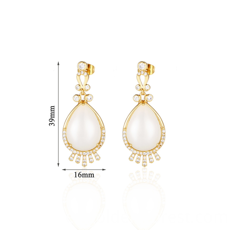 sterling silver 18kt gold plated earrings