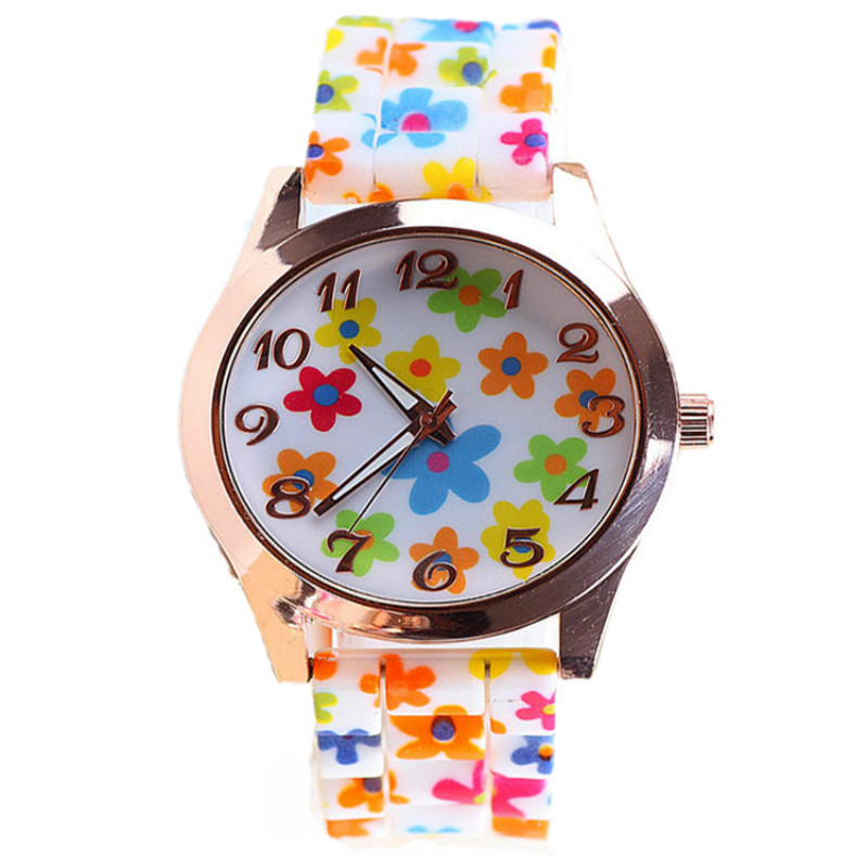 2016 Cute Students Jelly Silicone Quartz Watches Gifts