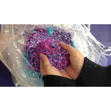 La poudre de paillettes de confettis a mélangé la taille pour les formes d'art d'ongle de paillettes de scintillement d'ornement