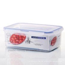 Große transparente versiegelte Box mit Griff
