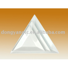 Plaque de triangle en porcelaine