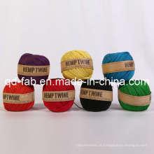 Cordão de cânhamo colorido tingido para artesanato (HT-1 mm)