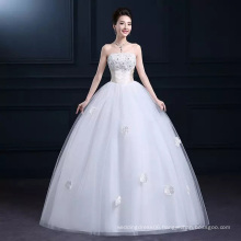 LSO013 Half sleeve shanghai beaded gown dress long with belt bow lace up lace sleeves to add to wedding dress