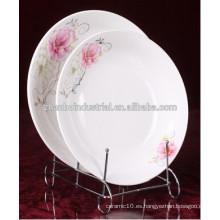 Nueva placa de porcelana de hueso, porcelana de cerámica placa de hueso, placa de china de hueso nuevo blanco