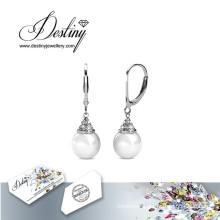 Destiny Jewellery Crystals From Swarovski Loop Pearl Earrings