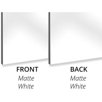 Panel compuesto de aluminio 2440 * 1220 mm 3 mm Núcleo de PE blanco mate