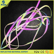 High Visibility Good Quality Silver Elastic Reflective Cotton Piping Cord for Bags