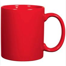 Tasse rouge en café céramique