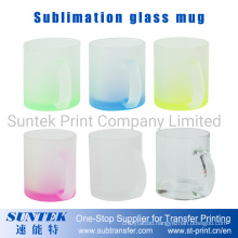 New Sublimation 11oz Blank Frosted Glass Mug