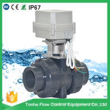 Dn40 1,5 polegadas PVC UPVC plástico elétrico motorizado válvula de esfera