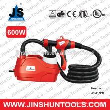 Pintor fácil elétrico da arma de pulverizador da pintura de JS HVLP 600W através dos trabalhos da pintura de casa, JS-910FD