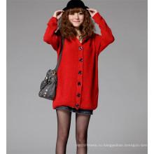 Зимний женский зимний свитер с длинным рукавом с длинными рукавами и теплым вязаным пальто