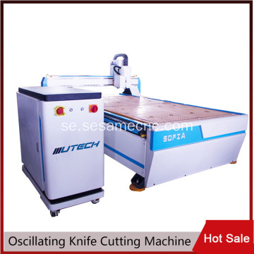 CNC Oscillating Knife Router Machine med CCD