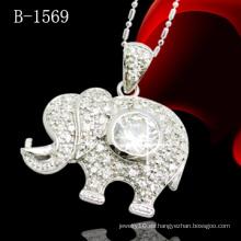 Colgante de elefante de moda con piedra CZ (B-1569)