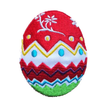 Happy Easter Egg Bow Flower Bordir Patch