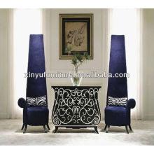 Тропический фиолетовый стул с высоким спинкой XY4881