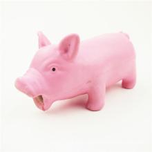 Los juguetes del perro del cerdo del PVC viny modificaron los juguetes plásticos para requisitos particulares