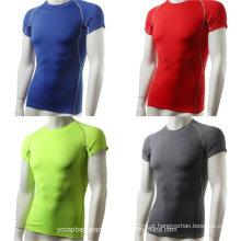 Atacado 100% algodão de alta qualidade Plain Sport T-shirt