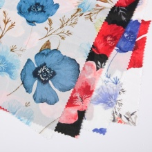 Customized Floral Print Chiffon Polyester Fabrics