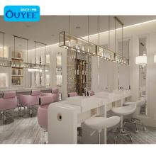 Led Barbershop Mirror Display Furniture Beauty Cabinet Hair Salon Furniture Manicure Table