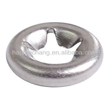 Anillo o anillo de abrazadera elástica de tipo diente de metal para equipos de calefacción eléctrica