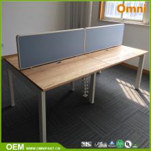Vier Person Moderne Holz Büromöbel Schreibtisch