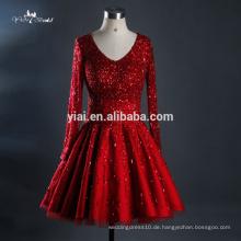 RQ123 2016 Fabrik-heiße Verkaufs-Qualitäts-A-Linie schwere wulstige Tulle-Sequin-rote Hochzeits-Kleider