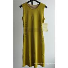 63%Rayon37%Nylon Sleeveless Sweater Dress for Ladies