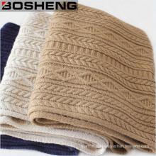 Invierno caliente mujeres de lana larga de tejer bufanda tejida bufanda