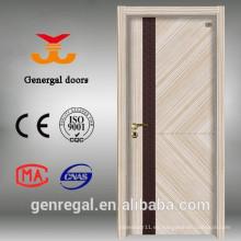 Puerta de dormitorio de melamina sin olor interior de estilo clásico