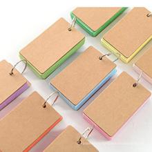 Cahier à spirale écologique de haute qualité avec papier de couleur