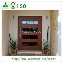 Porta de pivô de madeira maciça de design popular
