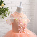 2017 Latest short Sleeve 1-14 Age and flower Decoration Lovely Ball Gown Flower Girl Dresses For Weddings