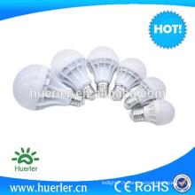 3w 5w 7w 9w 12w 15w 220v A-type récipient en plastique classique E27 B22 base LED ampoule d'énergie