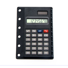 8 chiffres Super Thin Dual Power Calculator avec carte de règle
