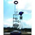 K-48 16inch 50diameter 5thickness Beaker Base 7mm Honeycomb Disco Perc para Showerhead Vidro Cachimbo de água para fumar