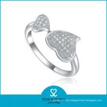 Hochwertiger Sterling Silber Herz Ring (SH-R0022)