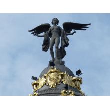 decoração do jardim ao ar livre artesanato em metal bronze estátua de anjo alado