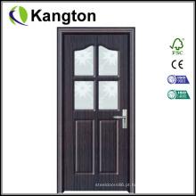 Porta de madeira interna com MDF e PVC (porta de PVC)