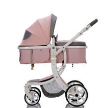 Carrinho de bebê de luxo 3 em 1 para sistema de viagens baratas por atacado com alcofa e assento de carro