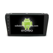 ¡Cuatro nucleos! DVD de coche Android 6.0 para MAZDA 3 con pantalla capacitiva de 9 pulgadas / GPS / Enlace espejo / DVR / TPMS / OBD2 / WIFI / 4G