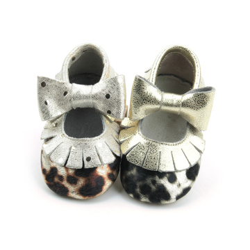 Cute Leopard Bow Κορίτσια μωρά Moccasins Παπούτσια