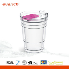 Promotional Cheap Glass Cups With Cap