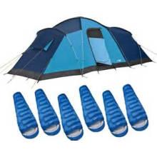Tente de camping imperméable double couche extérieure