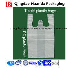 Bolsos plásticos del chaleco HDPE / LDPE del tamaño y del grueso de encargo para hacer compras