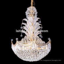 araña de cristal grande de la fábrica de iluminación de laiting profesional
