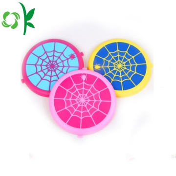 Spider-wed Silicone Sling Dog Mainan Pet Chew Frisbee
