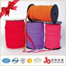 Polyester 6mm Flat braided elastic stretch mens belt webbing